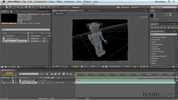 Cutting between CINEMA 4D cameras with CINEWARE: CINEMA 4D Lite for After Effects: Getting Started