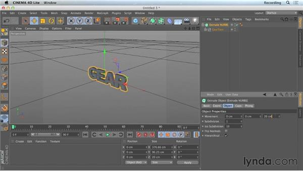 Importing Illustrator text into CINEMA 4D Lite: CINEMA 4D Lite for After Effects: Getting Started