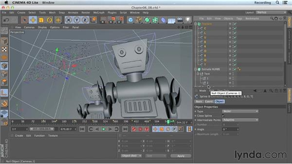 Using MoGraph Fracture on text: CINEMA 4D Lite for After Effects: Getting Started