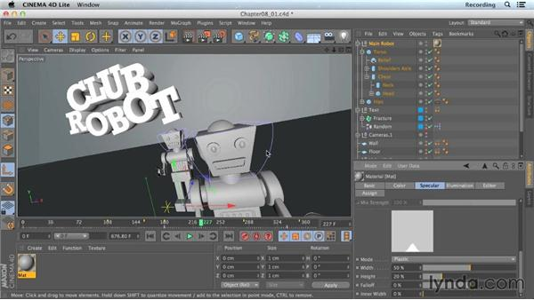 Applying a custom material: CINEMA 4D Lite for After Effects: Getting Started