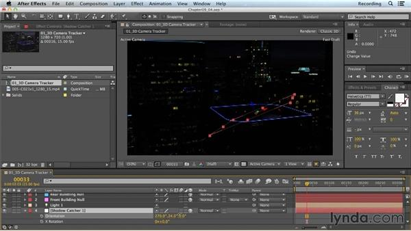 Adjusting the Shadow Catcher for CINEMA 4D: CINEMA 4D Lite for After Effects: Getting Started