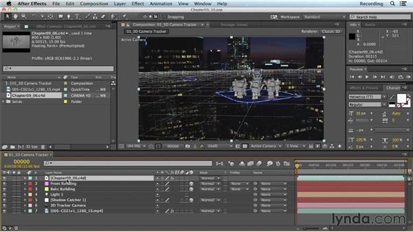 Manually adjusting scenes between apps: CINEMA 4D Lite for After Effects: Getting Started