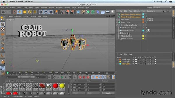 Casting shadows on layers in CINEWARE: CINEMA 4D Lite for After Effects: Getting Started