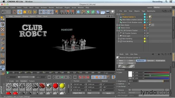 Adding reflections in CINEMA 4D: CINEMA 4D Lite for After Effects: Getting Started