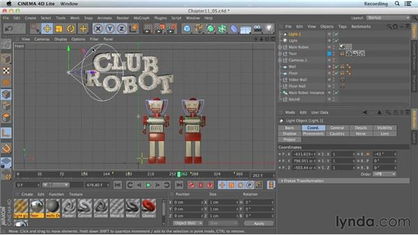Light types in CINEMA 4D Lite: CINEMA 4D Lite for After Effects: Getting Started