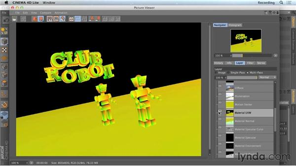 Previewing and experimenting with passes: CINEMA 4D Lite for After Effects: Getting Started