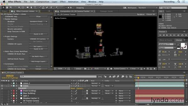 Adjusting reflections: CINEMA 4D Lite for After Effects: Getting Started