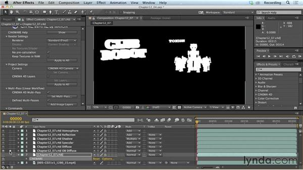 Isolating elements with object buffers: CINEMA 4D Lite for After Effects: Getting Started