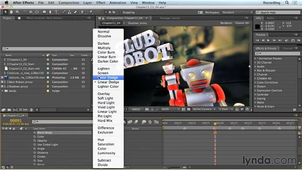 Layer styles: CINEMA 4D Lite for After Effects: Getting Started