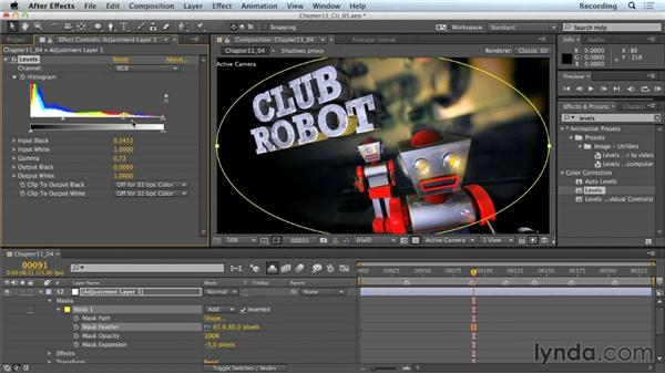 Adjustment layers: CINEMA 4D Lite for After Effects: Getting Started