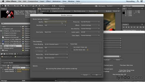 Rendering with the After Effects Render Queue: CINEMA 4D Lite for After Effects: Getting Started