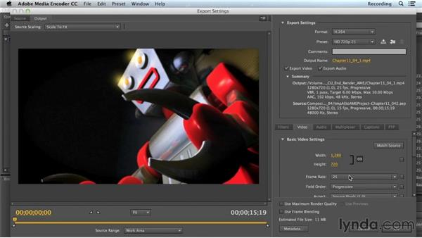 Background rendering with Adobe Media Encoder: CINEMA 4D Lite for After Effects: Getting Started