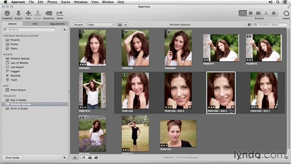 Using the exercise files: Portrait Retouching with Aperture