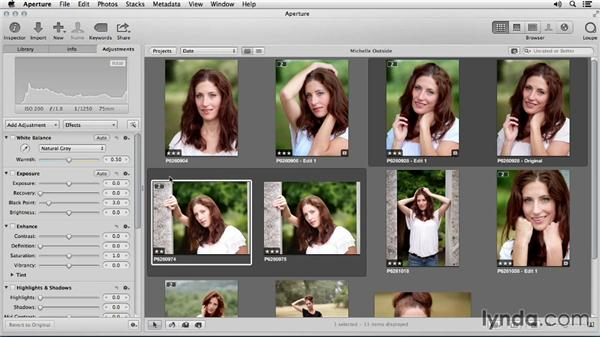 Making the initial assessment: Really look at your portrait: Portrait Retouching with Aperture