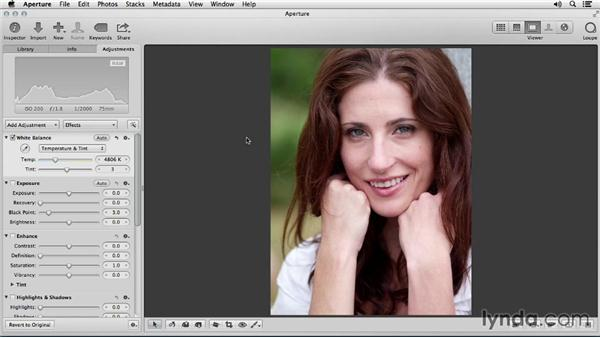 Getting skin tones the right color: Portrait Retouching with Aperture