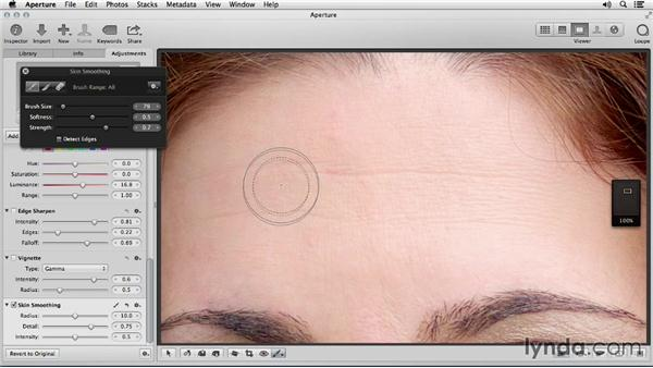 Smoothing skin: Portrait Retouching with Aperture