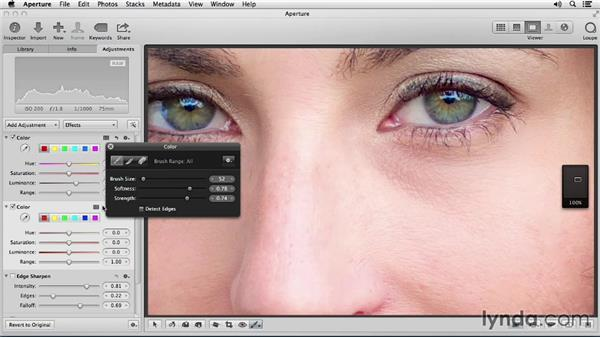 Lightening and darkening specific areas: Portrait Retouching with Aperture