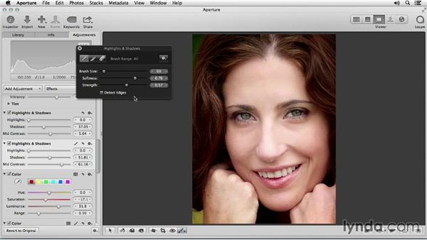 Sharpening and brightening the eyes: Portrait Retouching with Aperture