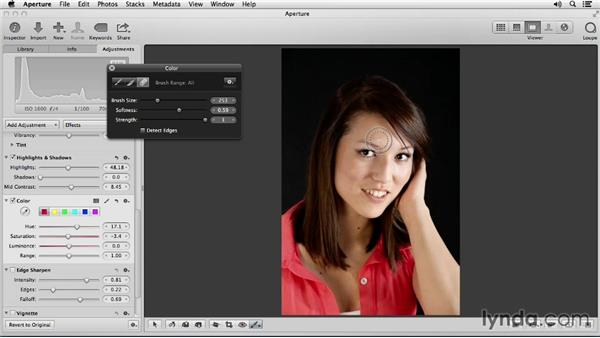 Adjusting the color and brightness of clothing: Portrait Retouching with Aperture
