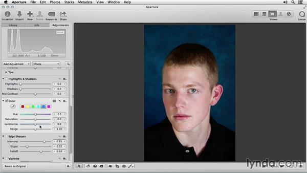 Changing the background: Portrait Retouching with Aperture