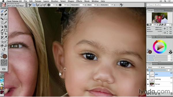 Painting a child's face: Digital Painting: Transforming a Portrait