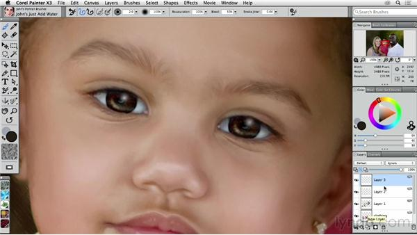 Painting a child's eyes: Final touch-ups: Digital Painting: Transforming a Portrait