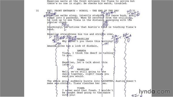Using the script and notes to determine cuts: Foundations of Video: The Art of Editing