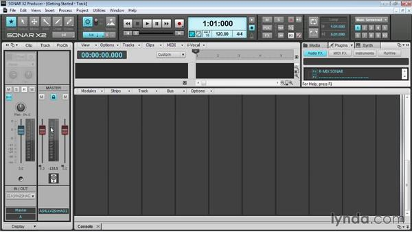 Interface overview: Up and Running with SONAR X2