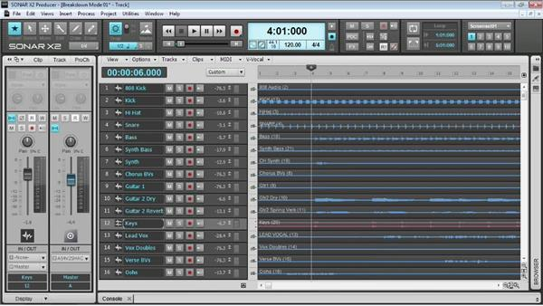 Working with tracks: Up and Running with SONAR X2