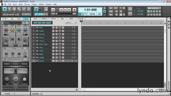 Opening and creating project templates: Up and Running with SONAR X2