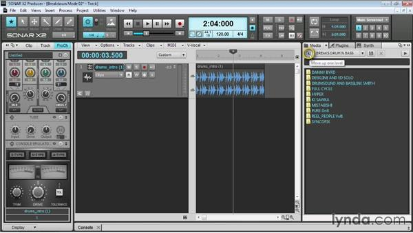 Importing audio files: Up and Running with SONAR X2