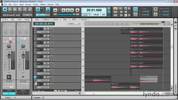 Loop recording: Up and Running with SONAR X2