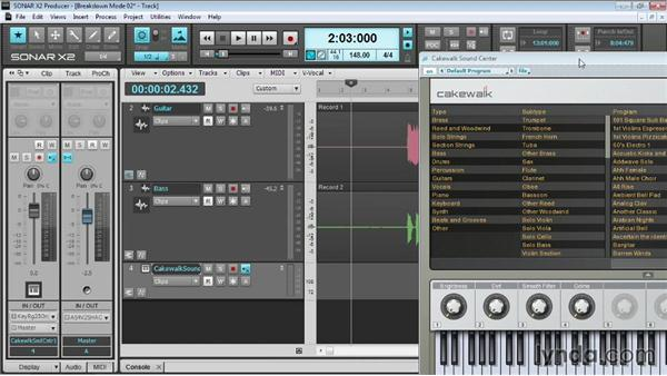 Recording MIDI: Up and Running with SONAR X2