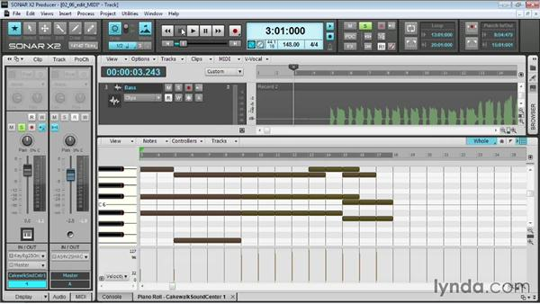 Editing MIDI: Up and Running with SONAR X2