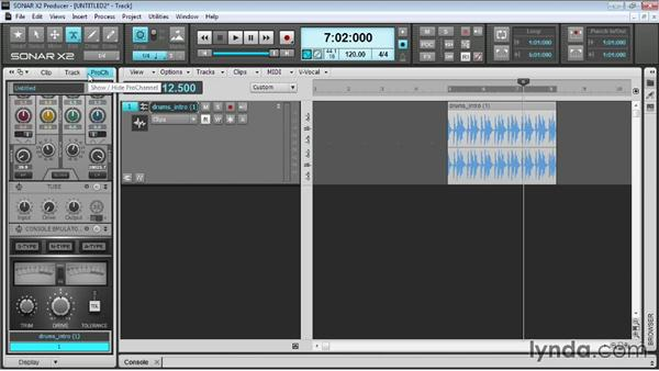 Using the edit tools: Up and Running with SONAR X2