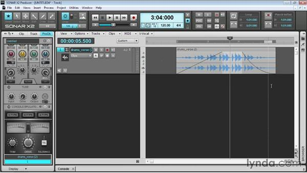 Fading and cross-fading items: Up and Running with SONAR X2