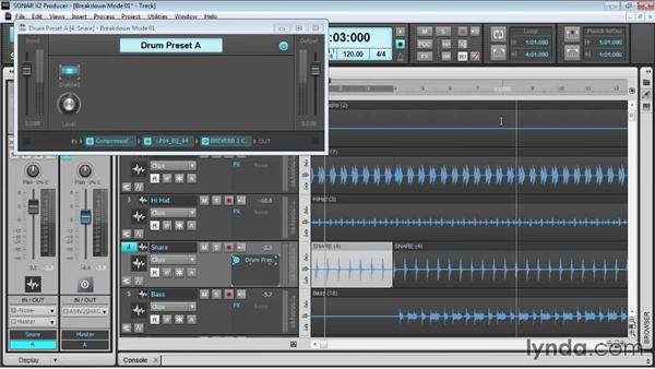 Creating FX chains: Up and Running with SONAR X2