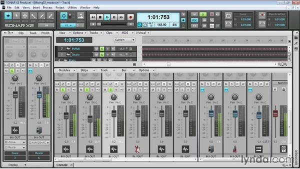 Mixing: Up and Running with SONAR X2