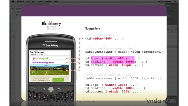 Suggestions for BlackBerry 5 layout correction: Creating a Responsive HTML Email