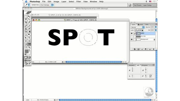 spot color traps: Photoshop CS Prepress Essentials