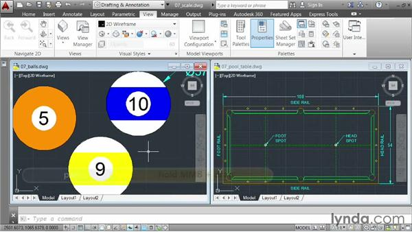 Scaling elements: AutoCAD 2014 Essentials: 03 Editing and Organizing Drawings