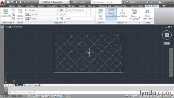 Leveraging grips: AutoCAD 2014 Essentials: 03 Editing and Organizing Drawings