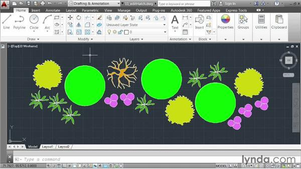Editing hatch patterns: AutoCAD 2014 Essentials: 03 Editing and Organizing Drawings
