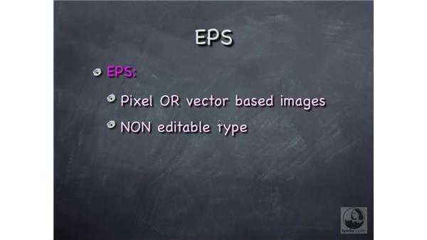 file formats 2: Photoshop CS Prepress Essentials