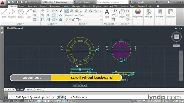 Creating new objects by example: AutoCAD 2014 Essentials: 03 Editing and Organizing Drawings