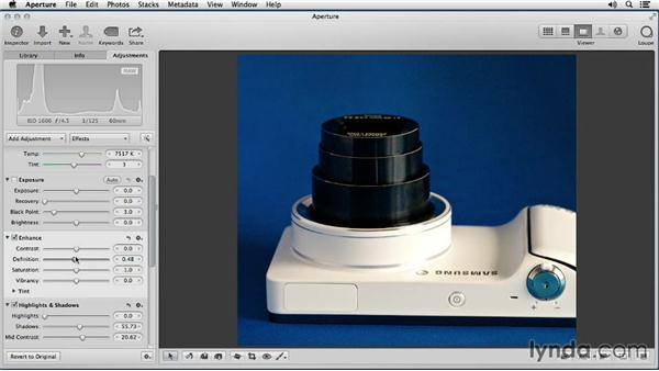 Opening up shadow areas to convey more product information: Enhancing Product Photography with Aperture