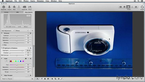 Working with highlight recovery: Enhancing Product Photography with Aperture