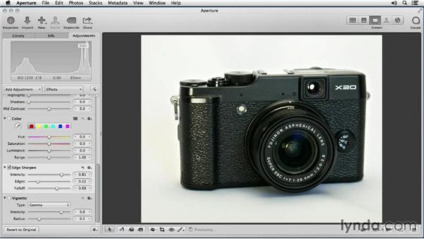 Processing multiple photos at once: Enhancing Product Photography with Aperture