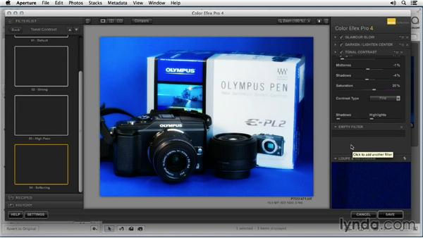 Adding color enhancements with Color Efex Pro: Enhancing Product Photography with Aperture