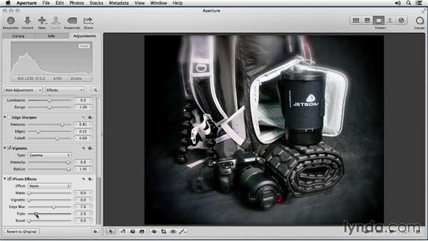 Applying iPhoto effects: Enhancing Product Photography with Aperture